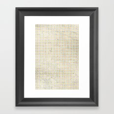 gOld squares Framed Art Print