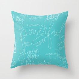 powerful Throw Pillow