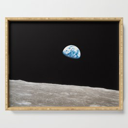 Earthrise William Anders Serving Tray