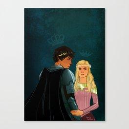 The Brave Princess & The Rebel King Canvas Print