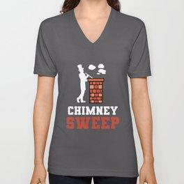 Chimney Sweep House Cleaner Chimneyer Craftsman Unisex V-Neck