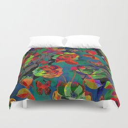 Floral Pattern Textile Duvet Cover