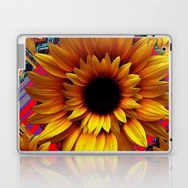 ANTIQUE GILDED ART DECO SUNFLOWERS Laptop & iPad Skin