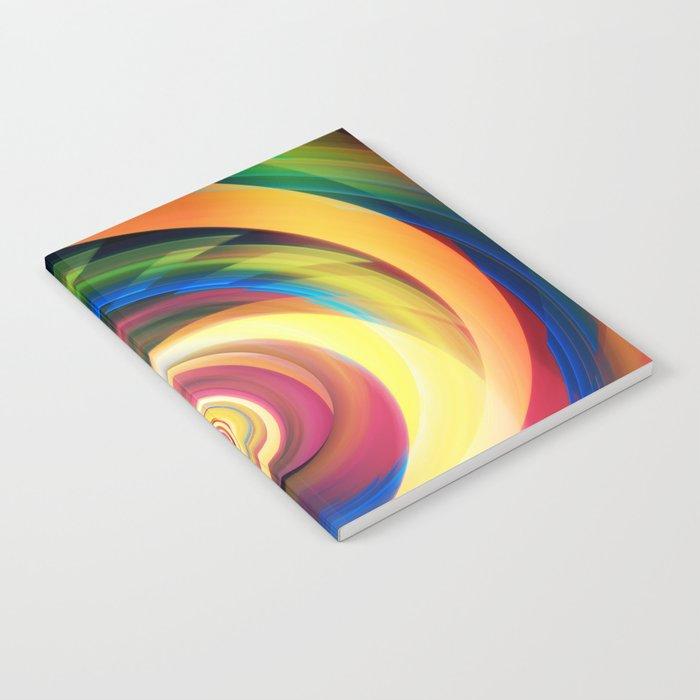 Spinning rainbow Notebook