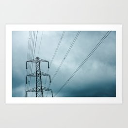 Pylon Sky Art Print