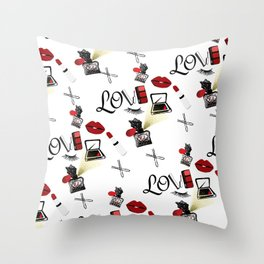 Love Makeup Throw Pillow