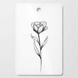 Lone Tulip Cutting Board