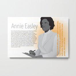 STEM Women 02 - Annie Easley Metal Print