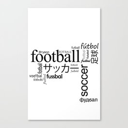 The World Game. Canvas Print