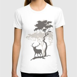 Deer Under Tree No. 3 T-shirt