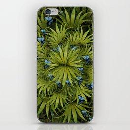 """El Bosco fantasy, tropical island blue butterflies"" iPhone Skin"
