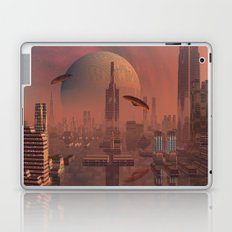 Futuristic City with Space Ships Laptop & iPad Skin