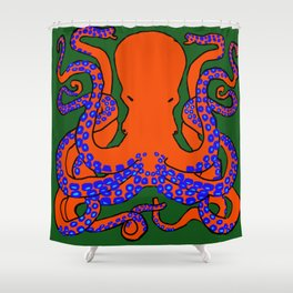 The Cunning Octopus Shower Curtain