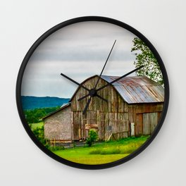 Barn In Bliss Township Wall Clock