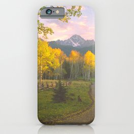 Aspen on a Country Road in the San Juan Mountains of Colorado iPhone Case