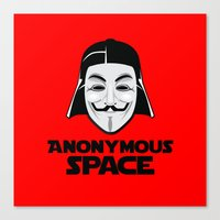 anonymous Canvas Prints featuring Anonymous by Tony Vazquez