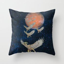 Spartan Soldiers from Mars Throw Pillow