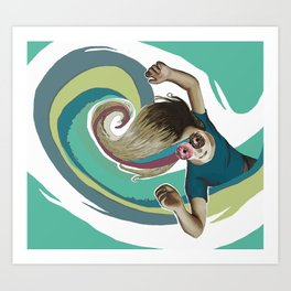 Donut try to understand (the wave) Art Print