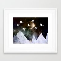 fly Framed Art Prints featuring Fly High by Nireth