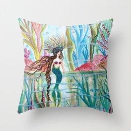 Underwater Garden Throw Pillow