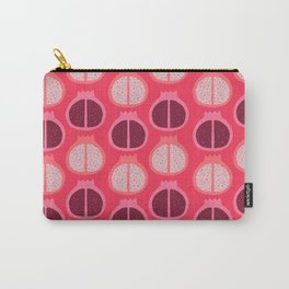 Fun + Vibrant Pomegranate Pattern Print  Carry-All Pouch