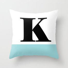 Monogram Letter K-Pantone-Limpet Shell Throw Pillow