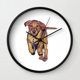 Run puppy run! Wall Clock