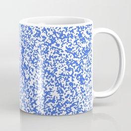 Tiny Spots - White and Royal Blue Coffee Mug