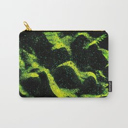 Green Black Space Pattern Carry-All Pouch