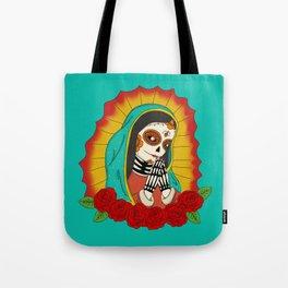 Virgin de Guadalupe Sugar Skull Tote Bag