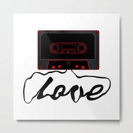 Unwound Love Audio Cassette Metal Print