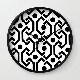 Ethnic Pattern (White) Wall Clock