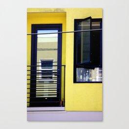 Second And Third Floor Windows With Door Canvas Print