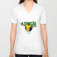 brasil V-neck T-shirts featuring Brasil by Skiller Moves