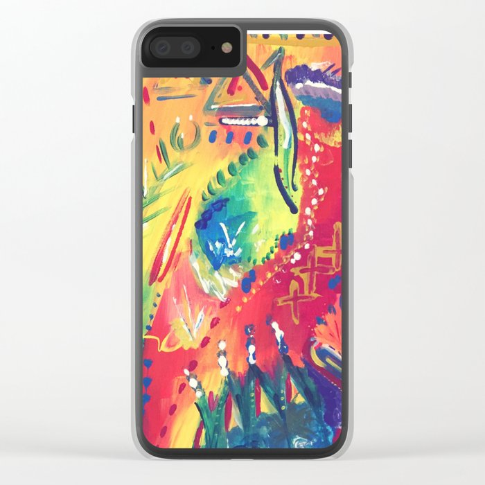 Splashes of colour Clear iPhone Case