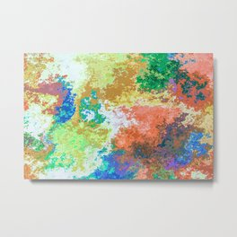 Colorful Patches Metal Print