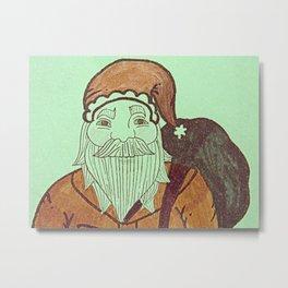 Jolly Old Santa Claus, Merry Christmas. Metal Print