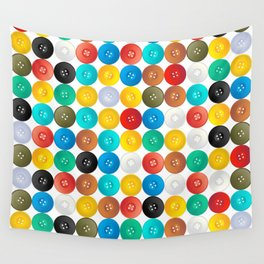 Button pattern Wall Tapestry