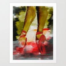 Red Ballet Slippers Art Print