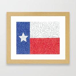 Texas Flag Roses Framed Art Print
