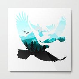 eagle three silhoutte Metal Print