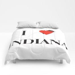 I heart Indiana Comforters