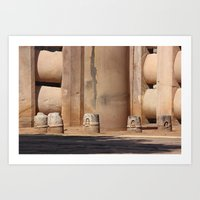 buddhism Art Prints featuring Buddhism ancient place in Sanchi by Four Hands Art