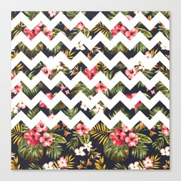 Floral Chevron Canvas Print