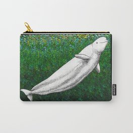 Beautiful beluga whale in the ocean Carry-All Pouch