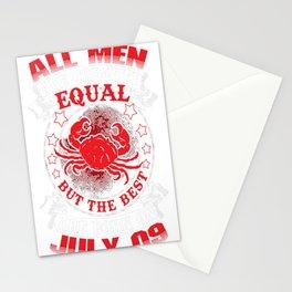 Best-Men-Are-Born-On-July-09---Cancer-Shirt---Sao-chép---Sao-chép Stationery Cards