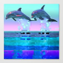 Dolphin Jitter Canvas Print