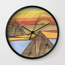 Desert Sunrise Wall Clock