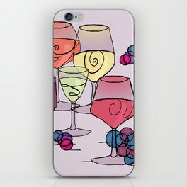 Wine and Grapes v2 iPhone Skin