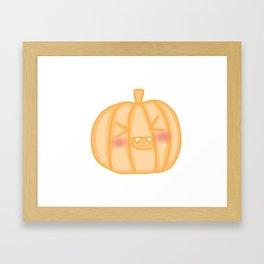 Kawaii pumpkin Framed Art Print